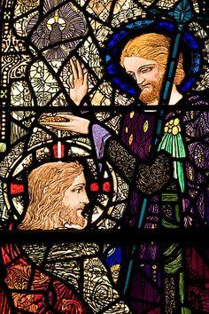 Harry Clarke stained glass window.   the Diseart Chapel in Dingle,Ireland