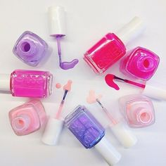 pretty pinks and purples Essie Colors, Nail Colors, Essie Polish, Sinful Colors, Nail Envy, Stylish Nails, Cute Nail Designs, Nail Trends, Cool Nail Art