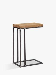 Buy Oak John Lewis & Partners Calia Sofa Side Table from our Side Tables range at John Lewis & Partners. Sofa Side Table, Sofa Tables, Bedside Tables, Leather Ottoman Coffee Table, Hallway Table Decor, Room Color Schemes, Aging Wood, Wood Slats, Jelsa