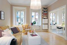 Ultra Bright Living Room In Fantastic Design Inside