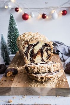 Schokoladen-Lebkuchen Babka mit Zimtstreusel oder Weihnachtlicher Hefewickel - Meine Küchenschlacht