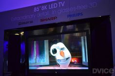 Eyes-on with Sharp's reality-like, glasses-free 8K 3D TV