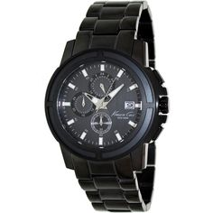 Kenneth Cole Men's KC9204 Black Stainless-Steel Quartz Watch with Black Dial