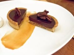 Chocolate-caramel tart at Battersby in Cobble Hill