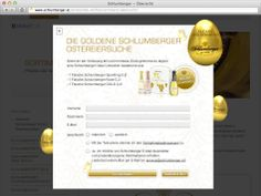 Schlumberger Sekt - Ostern 2013   |   Auftraggeber: Schlumberger AG, C21 new media design   |   Website Gewinnspiel