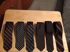 Lot of 6 Vintage Mens Ties - Franklin Simon, Fifth Ave, NY - All Silk #FranklinSimon