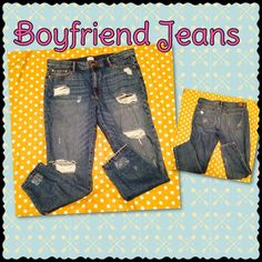 Comfy pair of boyfriend jeans Only worn a few times, super cute with a cute top Jeans Boyfriend