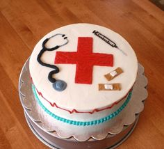 nurse cake decorated with buttercream.