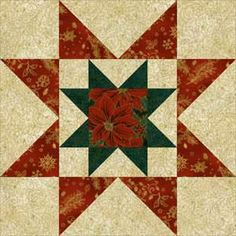 """Try my Rising Star quilt block pattern to make 12"""" square quilt blocks that feature a star within a star. An easy quilt pattern for all quilters."""