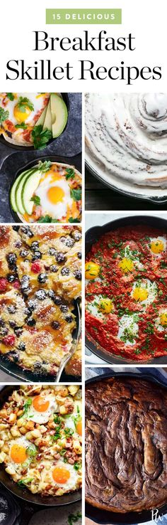 15 delicious breakfast skillet recipes you'll love. #breakfastskillet #skilletmeals #skillet