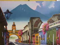 Cuadro calle del Arco. Antigua Guatemala.