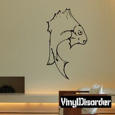 Fish Wall Decal - Vinyl Decal - Car Decal - DC124