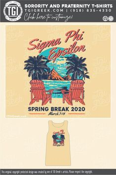Sigma Phi Epsilon shirts by TGI Greek! sorority apparel, sorority shirts, custom shirts, custom sorority shirts, custom fraternity apparel, custom tees, fraternity shirts, spring break, beach, palm tree #tgigreek #springbreak #sigep Sorority Outfits, Sorority Shirts, Tee Shirts, Fraternity Shirts, Sorority And Fraternity, Sigma Phi Epsilon, Spring Break Trips, Custom Tees, College Life