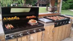 Outdoor Kitchen Plans, Outdoor Cooking Area, Backyard Kitchen, Outdoor Kitchen Design, Small Patio Design, Outdoor Kitchens, Outdoor Grill Station, Outdoor Grill Area, Design Jardin