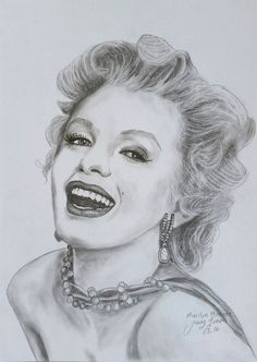 "Marilyn Monroe Original Pencil Drawing Fine Art Portrait. 9""x12"" #Realism"