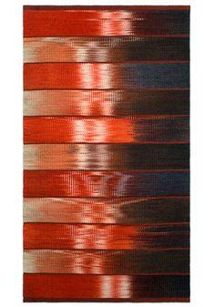 2007 Artist Connie Enzmann-Forneris Modern Tapestries, Rug Inspiration, Weaving Textiles, Cool Rugs, Glitch, Handmade Rugs, Ikat, Tartan, Hand Weaving