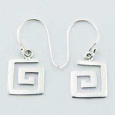 geometrische zilveren oorbellen