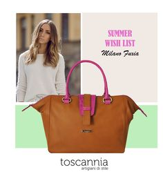 Summer Wish List:  Milano Fuxia Leather Handbag by Toscannia http://www.toscannia.com/leather-bags