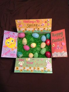 Thanks for sharing cadycookston17 easter care package just finished making this easter package for my hubby bunny everything bought from hobby lobby negle Image collections