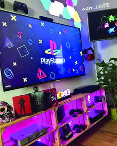 Awesome Home Game Room Setup Ideas Game Room Decor, Diy Room Decor, Bedroom Decor, Geek Bedroom, Bedroom Ideas, Nerd Room, Gamer Room, Gaming Room Setup, Gaming Rooms
