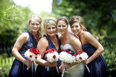 love the 3 bridesmaid picture :)