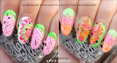 'Goodbye Summer – Wrap Up On Summer Nail Trends Series' Part 2 : Featuring Glam Glaze Graffiti Collection @alpsnailart
