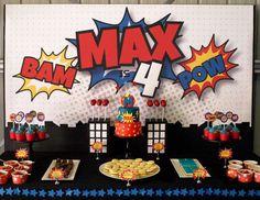 Avengers birthday, batman birthday, avenger birthday party ideas, b Avengers Birthday, Batman Birthday, Fourth Birthday, Superhero Birthday Party, 4th Birthday Parties, Boy Birthday, Super Hero Birthday, Birthday Games, Birthday Favors