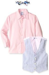 76fbd0e6ea6 Izod Boys 2-7 Z435101Q IZOD Kids Little Seersucker Vest Set- Choose SZ Color