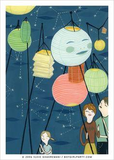 Lantern giclee print
