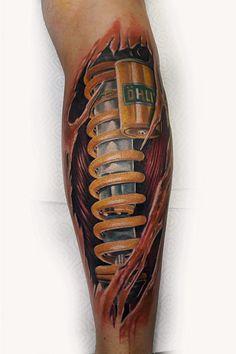 Tattoos Bein, Leg Tattoos, Tattoos For Guys, Skin Tear Tattoo, Geometric Henna, Mechanic Tattoo, Henna Mandala, Future Tattoos, White Ink