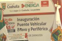 Inauguran nuevo puente en Torreón