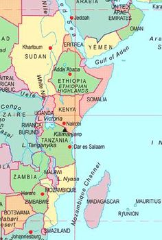 East Africa map | GR2Food Archive