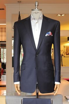 https://www.facebook.com/media   Great jacket. Two-button suits are the greatest. With three buttons, the top button is much higher, so you look too buttoned up.