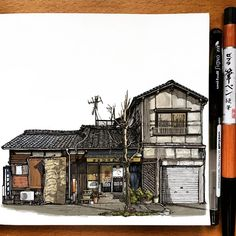 "974 Likes, 23 Comments - A Travel Diary (@_atravel_diary_) on Instagram: ""Japan - @jlron - Tag #atraveldiary and indicate the country where you created you sketch. And…"""