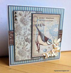 MyPixieRose: Romantisk kort med fugl