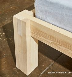 Diy bed frame - Hudson bed in ash (shipping included) Diy Garden Furniture, Bed Furniture, Furniture Projects, Furniture Plans, Rustic Furniture, Wood Projects, Woodworking Projects, Furniture Design, Furniture Shopping