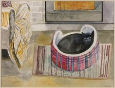 Emma Nelson by the Fire. Edward Bawden, 1987