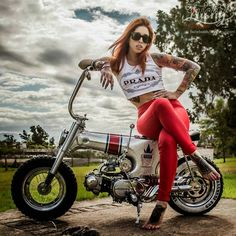 Mercenary+Garage+Custom+Motorcycle+Workshop+Dublin+Honda+ST70+Dax+Tattoo+Girl.jpg (960×960)