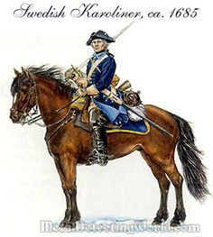 Swedish calvary (almost certainly from the Great Northern War): Military Art, Military History, Military Uniforms, Swedish Armed Forces, Kingdom Of Sweden, Uniform Insignia, Swedish Army, Seven Years' War, American Revolutionary War