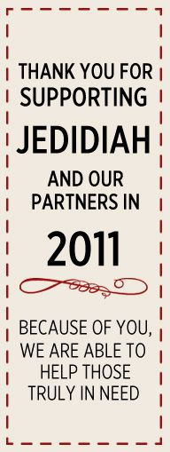 ...is using apparel sales as a vehicle to provide care, support and financial resources to those in need.  Jedidiah is a humanitarian-based apparel brand aspiring to cultivate change, one garment at a time.