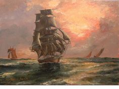 'When Day is Done, the US Clipper Donald McKay' by John Dinsdale.