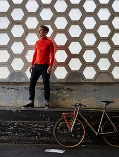 Vulpine - Men's Long Sleeve Extrafine Merino Alpine Jersey in Mandarin