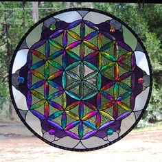 Beveled Dichroic Flower Of Life Sacred Geometry - from Delphi Glass Artist Gallery ---> Great tools for light-workers.. Flower of Life T-Shirts, V-necks, Sweaters, Hoodies & More ONLY 13$ EACH! LIMITED TIME CLICK THE PIC