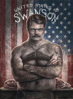 Ron Swanson : United States of Swanson Edition - by Sam Spratt