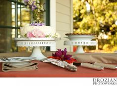 This couple had a small cake to cut and then #pies for their guests!