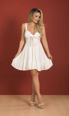 #moda #estilo #vestidos #dyaboo #volados Casual Dresses, Formal Dresses, White Dress, Fashion, White Gowns, Stylish Dresses, Blue Stripes, Minimal Dress, Skirts