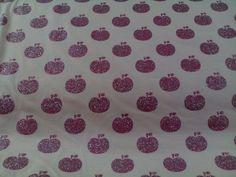 Jersey rosa  mit pinken Äpfeln Glitzer