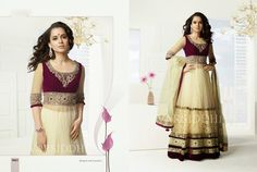 Kangna Ranaut Floor Length Grand Lehenga Gown. Price INR. 7,800.00 only. Hurry for your orders. Mail to: shezlemon@gmail.com