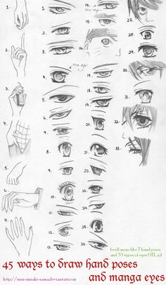 40 Anime eyes and hand poses by Xin-yii.deviantart.com on @DeviantArt