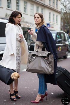 talk it out. #VanessaTraina & #CarolineSieberin London.